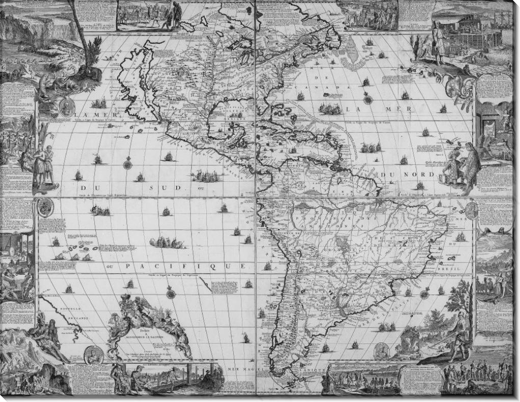 Карта Америки