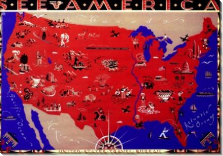 Карта Соединенных Штатов Америки