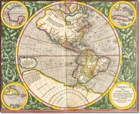 Карта Америки - Меркатор, Герард