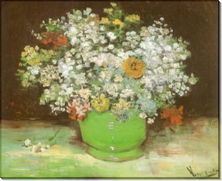 Ваза с цинниями и другими цветами - Гог, Винсент ван