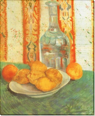 Натюрморт с графином и лимонами на тарелке - Гог, Винсент ван