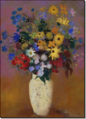 Odilon Redon  Vase of Flowers - Редон, Одилон