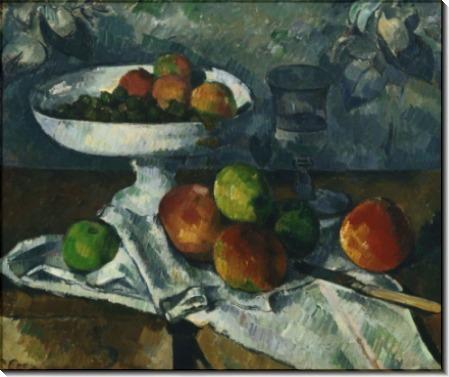 Блюдо с фруктами - Сезанн, Поль