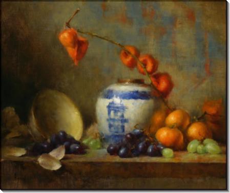Голубая и белая вазы - Ридель, Давид