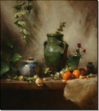 Зеленая ваза и мандарины - Ридель, Давид