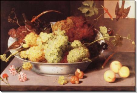 Миска винограда и три  птички - Бино, Петр