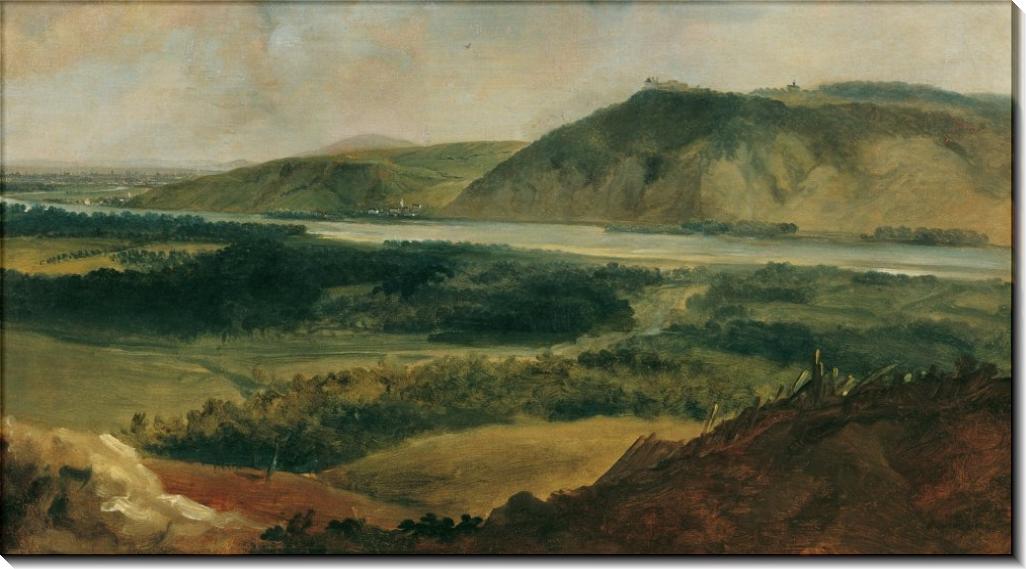 Дунайский пейзаж под Веной - Бранд, Иоганн Кристиан