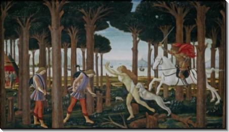 "История Настаджио дельи Онести (""Декамерон"" Бокачччо),1483 - Боттичелли, Сандро"