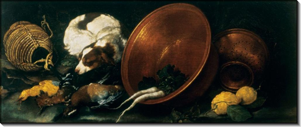 Натюрморт с кухонными принадлежностями - Гвидобоно, Бартоломео