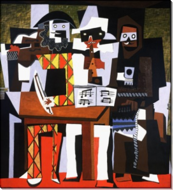 Три музыканта, 1921 - Пикассо, Пабло