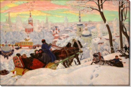 Масленица. 1916 - Кустодиев, Борис Михайлович