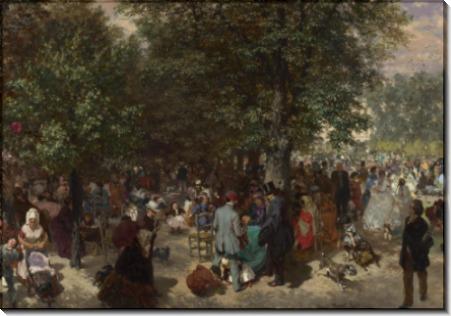 Во второй половине дня в саду Тюильри - Менцель, Адольф фон