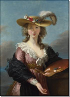 Автопортрет в соломенной шляпе - Виже-Лебрён, Мари Элизабет Луиза