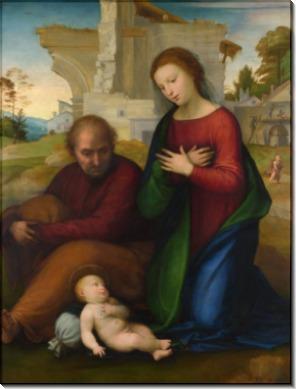 Мадонна поклоняется ребенку со Святым Иосифом - Бартоломео, Фра