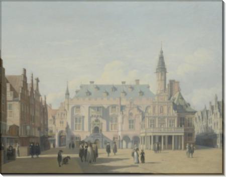 Рыночная площадь и ратуша, Харлем - Беркхейде, Геррит Адрианс