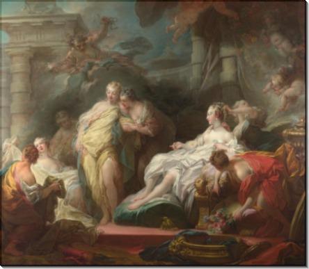 Психея показывает ее сестрам свои подарки от Амура - Фрагонар, Жан Оноре
