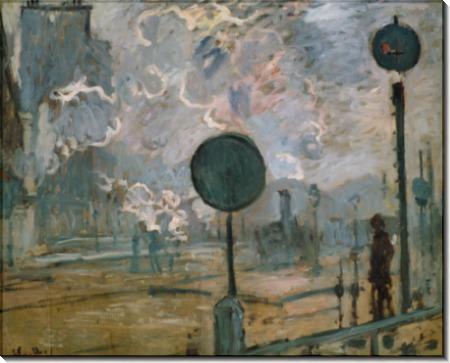 Внешний вид станции Сен-Лазар, 1877 - Моне, Клод