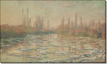 Плавучий лед, 1880 - Моне, Клод