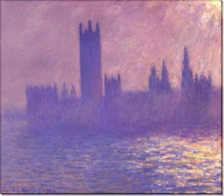 Дом Парламента в  солнечном свете,1903 - Моне, Клод