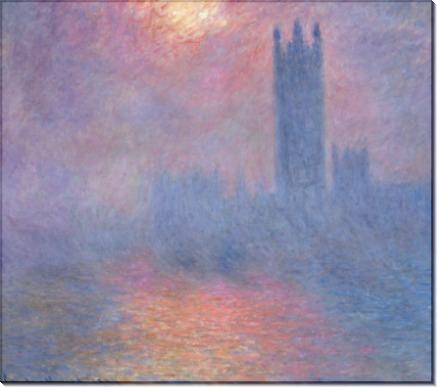 Здание парламента, солнце в тумане (1900-1901) - Моне, Клод