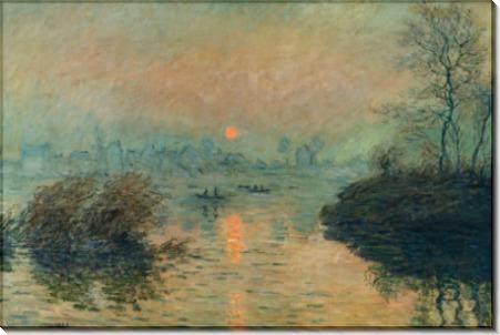 Закат на Сене, 1880 - Моне, Клод
