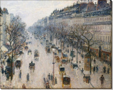 Бульвар Монмартр - зимнее утро, 1897 - Писсарро, Камиль
