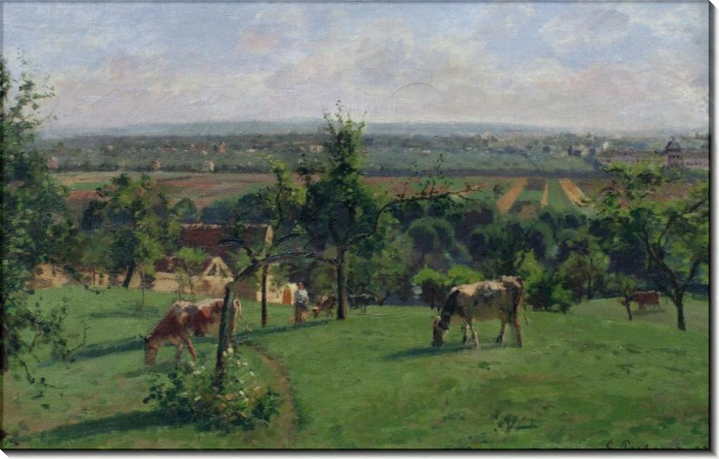 Холмы Везине, 1871 - Писсарро, Камиль