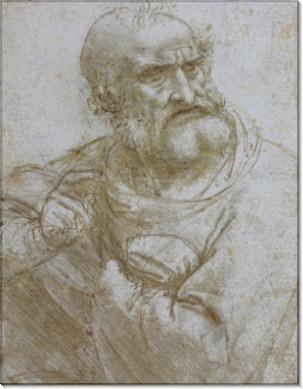 Эскиз фрагмента к Тайной Вечери - Винчи, Леонардо да