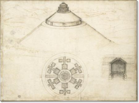 Вершина горы, мавзолей - Винчи, Леонардо да