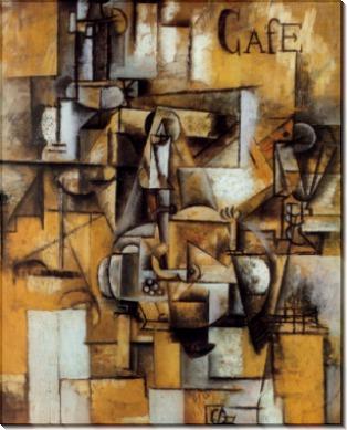 Голубь с зеленым горошком, 1912 - Пикассо, Пабло