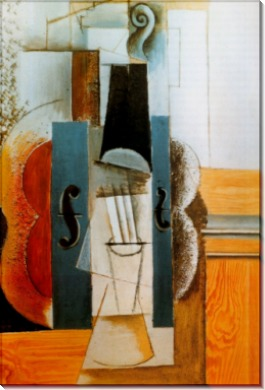 Скрипка на стене, 1913 - Пикассо, Пабло
