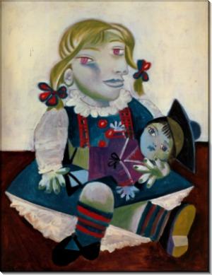 Портрет Майи с куклой, 1938 - Пикассо, Пабло