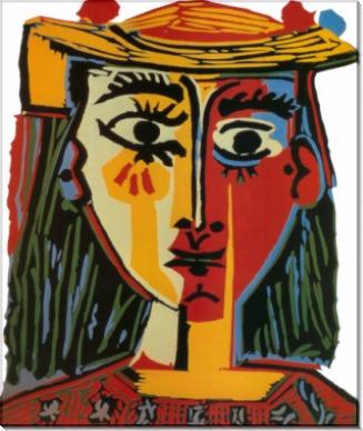 Бюст женщины в шляпе, 1962 - Пикассо, Пабло