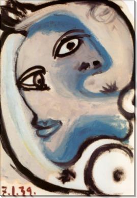 Голова женщины, 1939 - Пикассо, Пабло