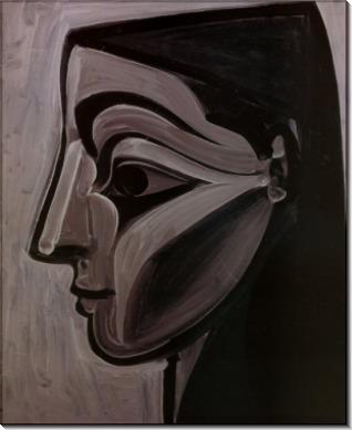 Женский профиль  левого глаза  миндалевидной формы, 1956 - Пикассо, Пабло