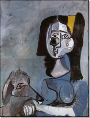 Жаклин со своей афганской собакой Кабулом, 1962 - Пикассо, Пабло