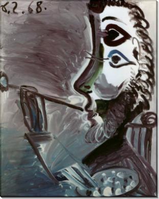 Профиль художника, 1968 - Пикассо, Пабло