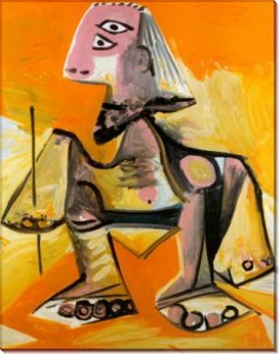 Человек,  присевший на корточки, 1971 - Пикассо, Пабло