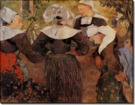 Танец четырех бретонок, 1888 Munich - Гоген, Поль