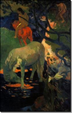 белая лошадь, 1898 - Гоген, Поль