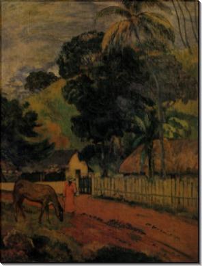Пейзаж (Лошадь на дороге), 1899 - Гоген, Поль