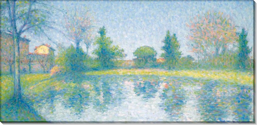 На берегу озера - Ложе,  Ашиль