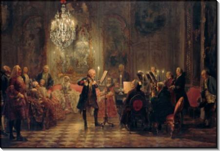 Концерт флейты Фридриха Великого в Сан-Суси - Менцель, Адольф фон