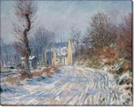 Дорога в Живерни зимой, 1885 - Моне, Клод