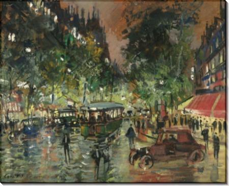 Парижский бульвар  ночью 02 - Коровин, Константин Алексеевич