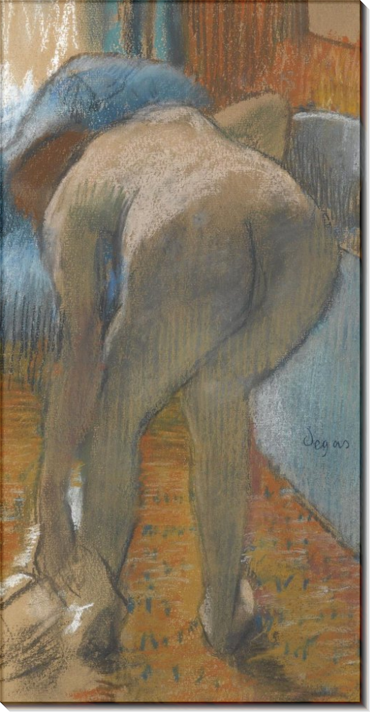 Принимающая ванну, 1885 - Дега, Эдгар