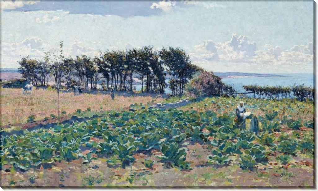 Поле капусты, 1889 - Фокс, Эмануэль Филлипс