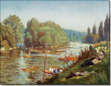 Берега  Марны в Ла-Варен, 1921 - Бернар, Эмиль