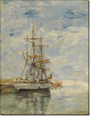 Трехмачтовый корабль на якоре, 1894-97 - Буден, Эжен