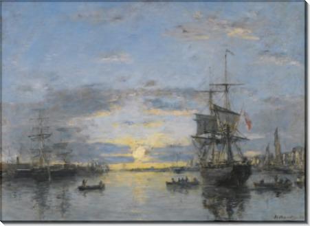 Гавр, Авант порт, закат, 1882 - Буден, Эжен
